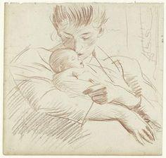 """""""Motherhood"""" by Paul Cesar Helleu (1859-1927)"""