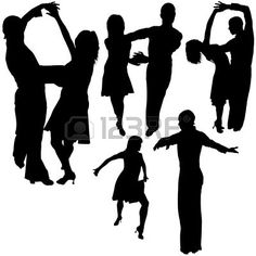 Latino Dance Silhouetten 13 - Gedetailleerde Illustraties Als Vector Royalty Vrije Cliparts, Vectoren, En Stock Illustratie. Pic 4603539.