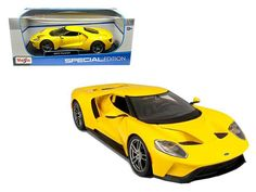 2017 Ford GT Yellow 1/18 Diecast Model Car by Maisto