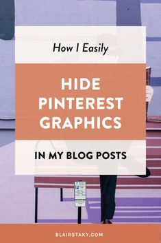 One of my best successful blog tips is focus on growing blog traffic with Pinterest and learn how to make Pinterest pins. It's one of the best tools to increase blog traffic because Pinterest a search engine. This is one of my best hacks for blogging for beginners. This tutorial shows you how to hide your pin images in your post, so you can keep them looking nice but also grow blog traffic. #bloggingtips #blogginghacks