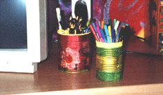 Stifthalter aus Blechdosen basteln