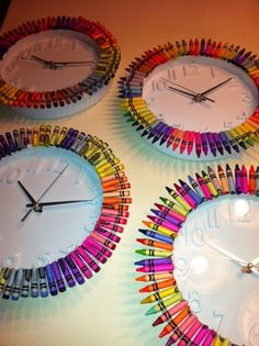 Crayon clocks