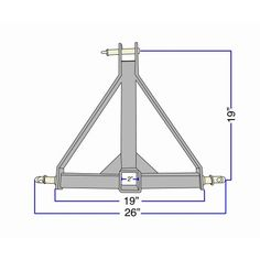 """3 Point 2"""" Receiver Trailer Hitch Category 1 Tractor Tow Hitch Drawbar Adapter Image 2 of 5"""