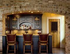 Richly appointed home bar at a #Kiawah Island Ocean Course home, courtesy of Miriam Jordan Interiors & Island Architects | www.kiawahisland.com #LuxuryRealEstate