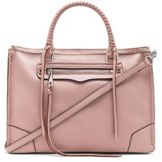 Rebecca Minkoff Regan Satchel ($320) ❤ liked on Polyvore featuring bags, handbags, brown satchel purse, man bag, satchel handbags, purse satchel and leather man bags