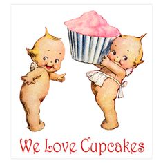 Kewpies and cupcakes?!! Cannot handle the cuteness!