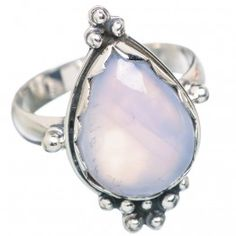 925 SOLID STERLING FINE SILVER  NATURAL MOONSTONE RING
