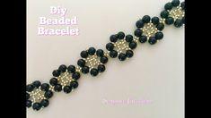 Floral Beaded Bracelet. DIY beaded Bracelet