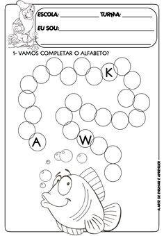 A Arte de Ensinar e Aprender: Atividade pronta sequência do alfabeto