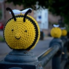 My favourite bee by ..Captain Crochet.., via Flickr
