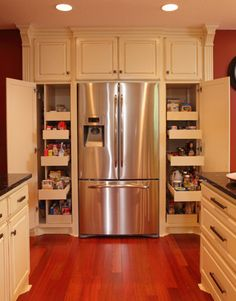 Think outside the single pantry. You may have convinced yourself that your pantry needs to be one space. In fact, you may be happier having ...
