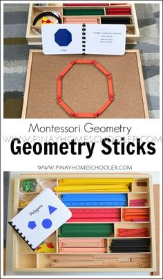 Learning how to use the Montessori Geometry Sticks