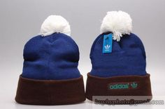 Adidas Beanies Knit Hats Warm Winter Caps Blue Brown