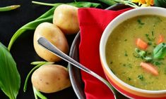 In the deep chill of January, National Soup Month warms us up with piping hot bowls of comfort! Make your favorite soups all month long. Nutritional Value Of Potatoes, Healthy Comfort Food, Healthy Eating, Eating Clean, Potato Health Benefits, Sweet Potato Nutrition, Sopas Low Carb, Pouch Reset, Raw Potato