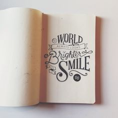 hand lettering type