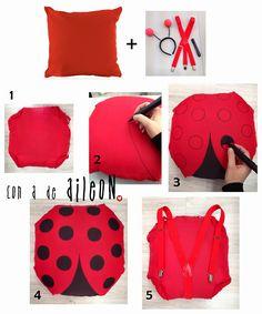 DIY: Disfraz de mariquita por menos de 5 euros | Aprender manualidades es facilisimo.com