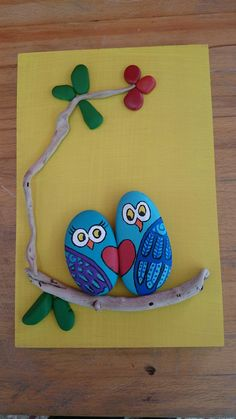 'vogelkaka' painted rocks birds on driftwood jl – Artofit – BuzzTMZ Pebble Painting, Pebble Art, Stone Painting, Hobbies And Crafts, Diy And Crafts, Crafts For Kids, Arts And Crafts, Stone Crafts, Rock Crafts