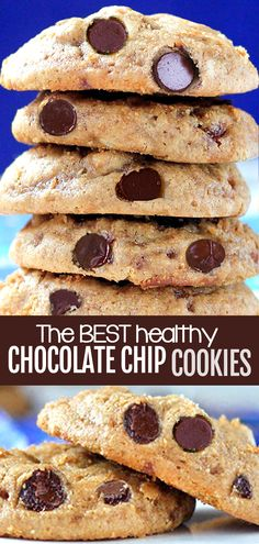How to make the best healthy and vegan chocolate chip cookies from scratch, with no eggs and they can be no sugar and gluten free #healthycookies #chocolatechip #cookies #recipe #vegan #vegancookies #chocolatechipcookies #healthy #veganrecipe #cookierecipes #nosugar