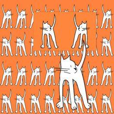 free digital cat scrapbooking paper and embellishment – Geschenkpapier mit Katzen – freebie | MeinLilaPark – digital freebies