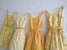 vintage inspired tea dresses for your wedding by sohomode on Etsy