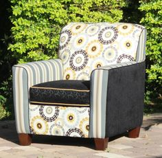Caroline Blue Accent Chair Staging Living Family Room