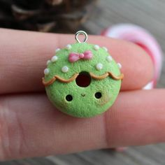 #kawaii #charms #polymer #clay #christmas #wreath