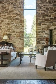 Rustic stone and timber dwelling overlooking the Grand Tetons Timber Frame Homes, Timber House, Timber Wood, Style At Home, Rustic Stone, Modern Rustic, Craftsman Interior, Craftsman Style, Mountain House Plans
