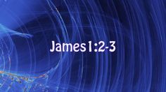 Today's verses come from James1:2-3 MSG.