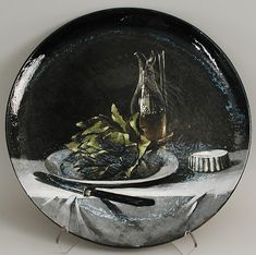 "François Laurin (French, 1826–1901). Charger with still life, 1880. The Metropolitan Museum of Art, New York. Robert A. Ellison Jr. Collection, Gift of Robert A. Ellison Jr., 2013 (2013.239.11)  | This work is featured in our "" Making Pottery Art: The Robert A. Ellison Jr. Collection of French Ceramics (ca. 1880–1910)"" exhibition on view through March 15 2015."