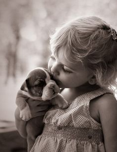 Babies and puppies.  Nothing cuter