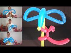 como hacer una palmera facil con globos largos - tutorial globoflexia - ...