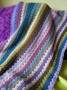 Ravelry: Project Gallery for Cosy Stripe Blanket pattern by Lucy of Attic24