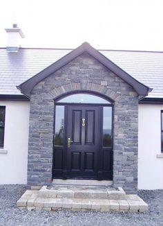 New Ideas front door porch ireland Bungalow Veranda, Bungalow Porch, Bungalow Haus Design, Bungalow House Plans, House Design, Dormer Bungalow, Bungalow Ideas, Bungalow Exterior, Stucco Exterior