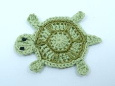 Crochet appliques Sea life crochet 1 applique by MyfanwysAppliques