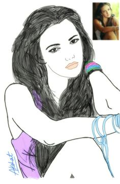 I saw this pic which is on the uper right side nd tried to draw it..if anyone know this models name plz rply thankew...