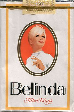 As a kid, I was fascinated by the girl on the Belinda cigarettes pack. World-wise. She represented a different world, one that existed far away.