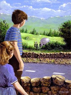 """The Close encounter of Cussac is the name given to an event which happened to a young brother and sister in Cussac, Cantal, France in August 1967. They reported a UFO sighting and encounter with alien beings."""