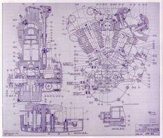 harley davidson blueprints - Google Search