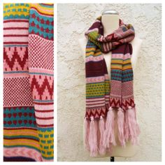 Knitted Navajo Fringe Scarf <3