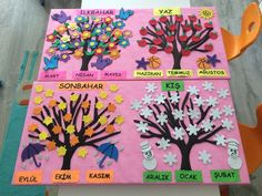 Top 40 Examples for Handmade Paper Events - Everything About Kindergarten Seasons Activities, Preschool Art Activities, Kindergarten Crafts, Bee Crafts For Kids, Art For Kids, Kindergarten Anchor Charts, Butterfly Crafts, Color Crafts, Classroom Decor