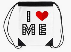 """""""I <3 Me"""" Drawstring Bags by bubbliciousart 