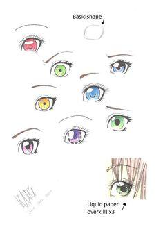 Manga eyes by MangaAnimeLover.deviantart.com on @deviantART