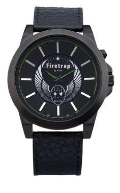 Firetrap FT1040B - Reloj de caballero de cuarzo color negro
