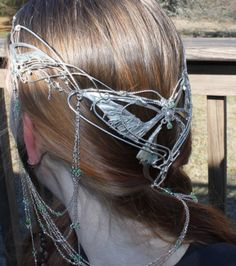 Silver Elven LOTR-inspired crown