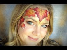 Fall Leaves - Makeup and Face Painting Tutorial - YouTube