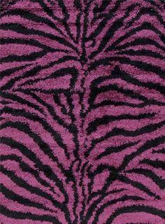 Purple Zebra Shag Area Rugs
