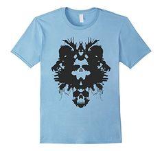 Men's Skull Rorschach T-Shirt (T Shirt) - Excellent Graph...