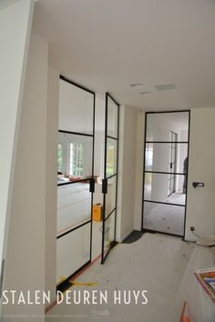 Authentieke dubbele stalen deuren, Project Schoten