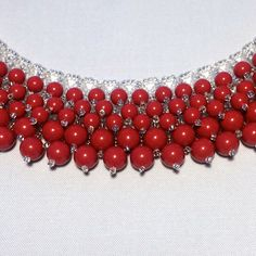 Wow! (Red Coral) Necklace - (Partial), Swarovski