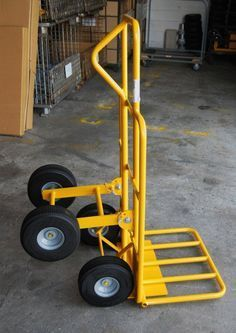 Multi Mover Hand Truck For Inflatables All Terrain Hand Trucks, Perfect for For Inflatables Homemade Tools, Diy Tools, Welding Cart, Welding Shop, Portable Toilet, Roofing Materials, Plate Design, Welding Projects, Woodworking Shop